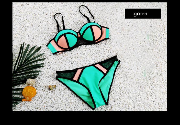 Купальники женщина мода бикини 2016 летом Bathsuit сексуальный купальник Biquini пуш ап пляжная одежда высокое качество лоскутная бикини Set купить на AliExpress