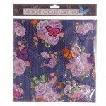 Papier Cadeau Bleu Marine - Papillon Chouko avec Etiquettes