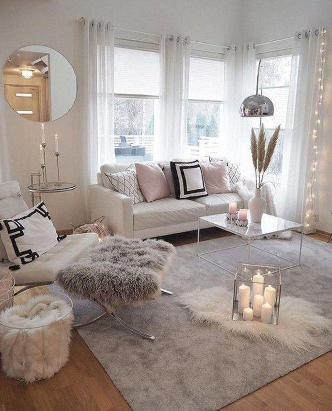 Stunning Romantic Living Room Decor 39 Sweetyhomee Living Room Decor Apartment Apartment Living Room Living Room Modern
