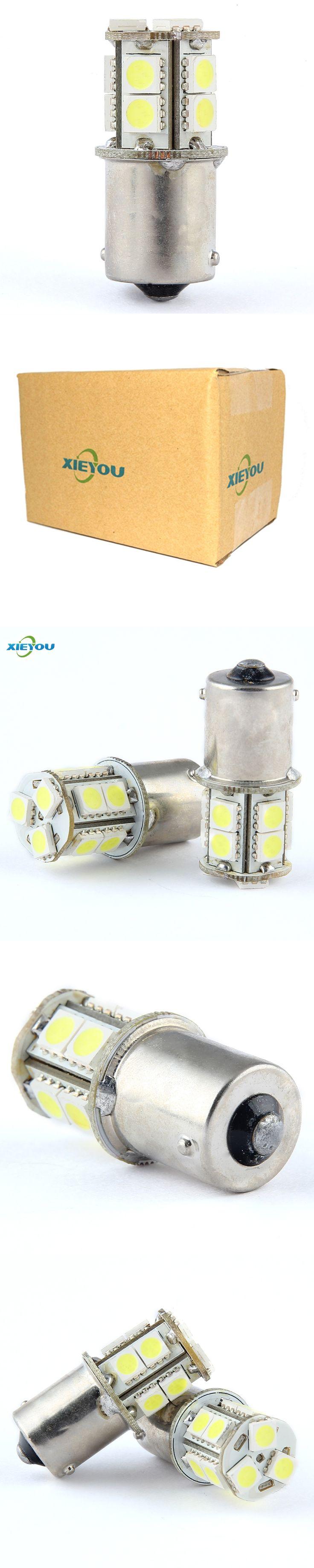 2PCS 1156 S25 13-SMD 12V LED Car Lights Great Brightness For Brake Turn Singal Rear Reverse  Lights