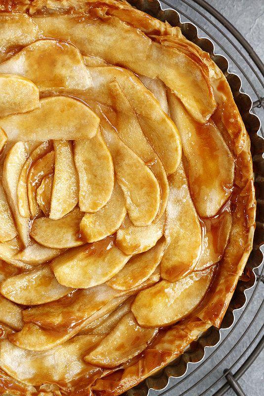 Salted Caramel Pear Phyllo Tart | Recipe | Pears, Salted ...