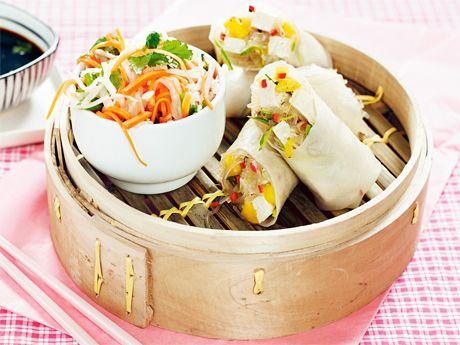 Fresh spring rolls with coriander