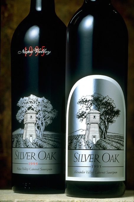 Silver Oak wine label, circa 1992. The 97 cab can be cellared for 25 years. Only one bottle left, though. :-(