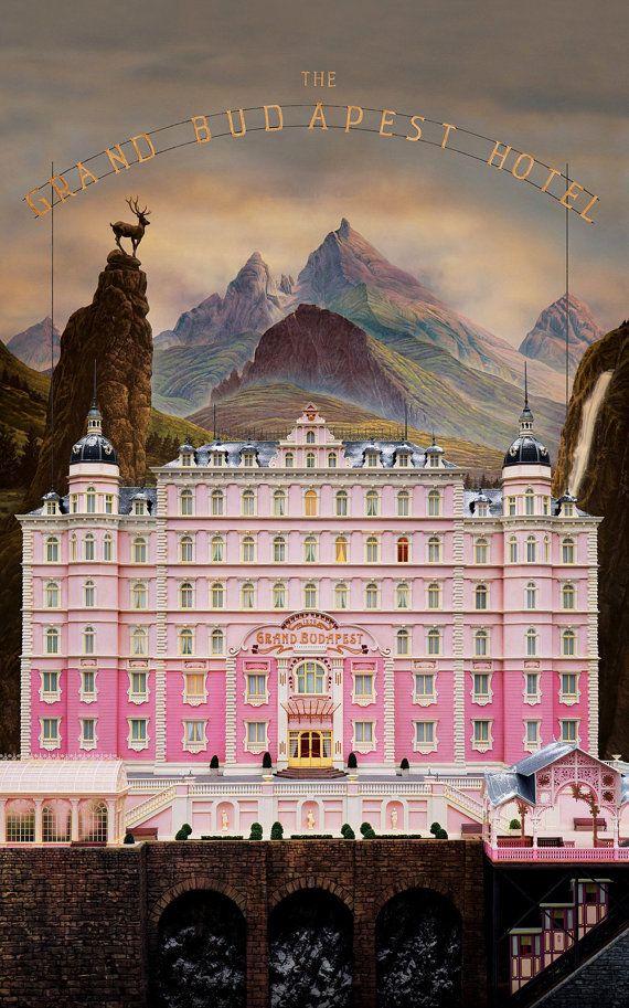 The Grand Budapest Hotel Poster Print by JosephWallArt on Etsy
