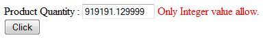 Allow only numeric decimal value in textbox using ASP.NET RegularExpressionValidator control  We often get requirement to allow only numeric decimal value in textbox for validation purpose, And also we have to specify number of decimal places. We can use ASP.Net RegularExpressionValidator control for this. In this control we can specify regex expression for validation.