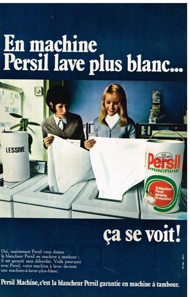 Publicité Advertising 1970 La Lessive Persil