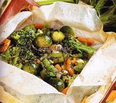 Zöldségek sütőpapírban