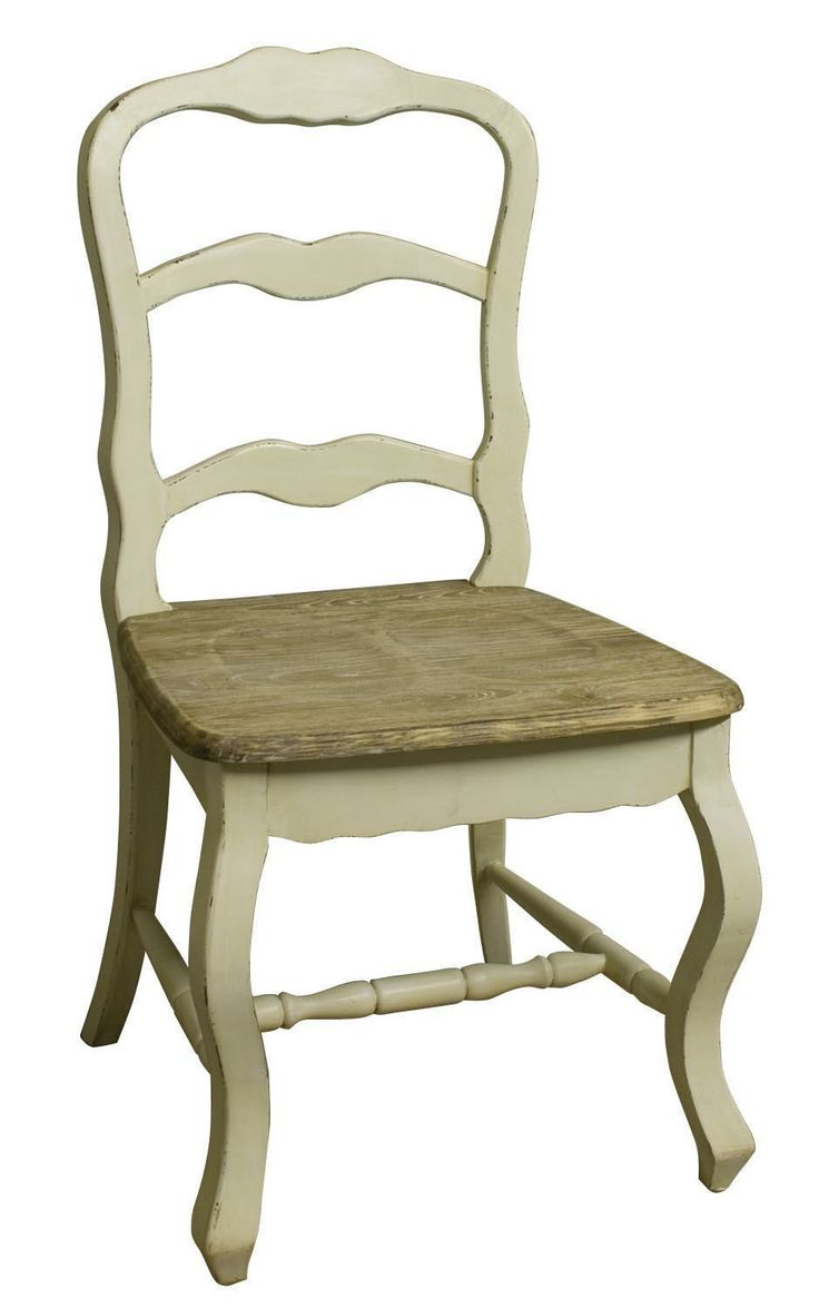 "Bordeaux Distressed Cream Dining Chair. Height: 39"" - 99cm Heght (Seat): 18"" - 46cm Width: 23.5"" - 60cm Depth: 18.5"" - 47cm"