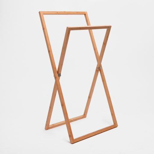 Image of the product Bamboo wooden towel rail
