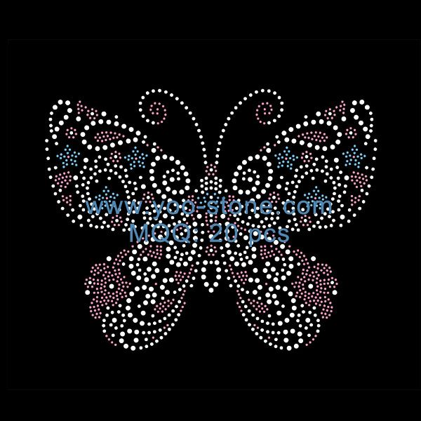 Colorful Butterfly Rhinestone Transfers For Girl's Dresses