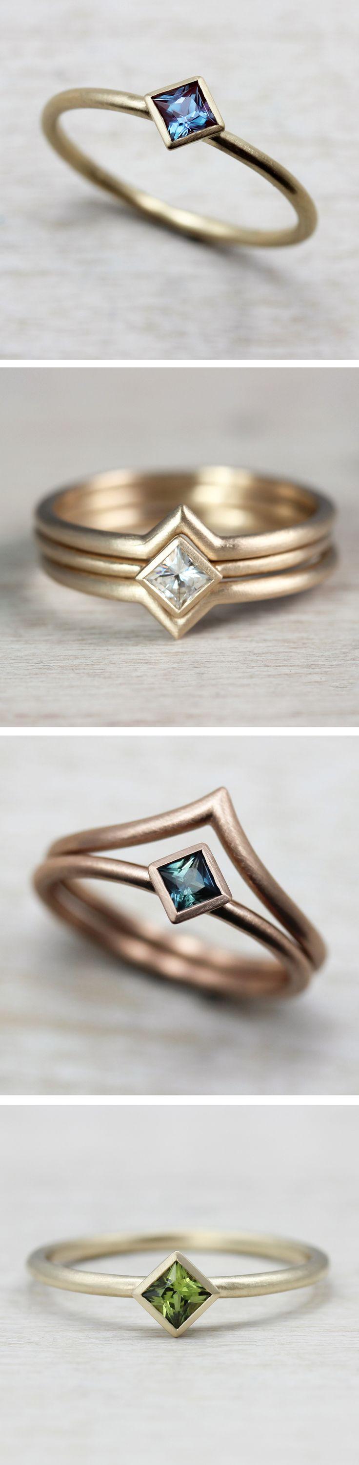 Die besten 25 Sapphire and diamond band Ideen auf Pinterest