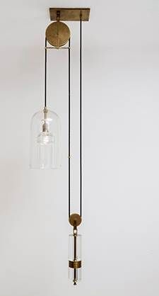 "Home // ""Pulley Pendant by Alison Berger at PDC / Holly Hunt"""