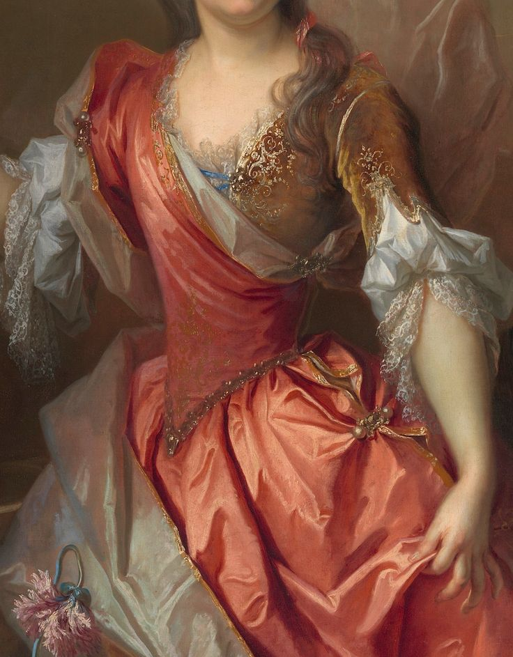 Nicolas de Largillierre Portrait of a Woman, Possibly Madame Claude Lambert de Thorigny (Marie Marguerite Bontemps) (detail) | 1696