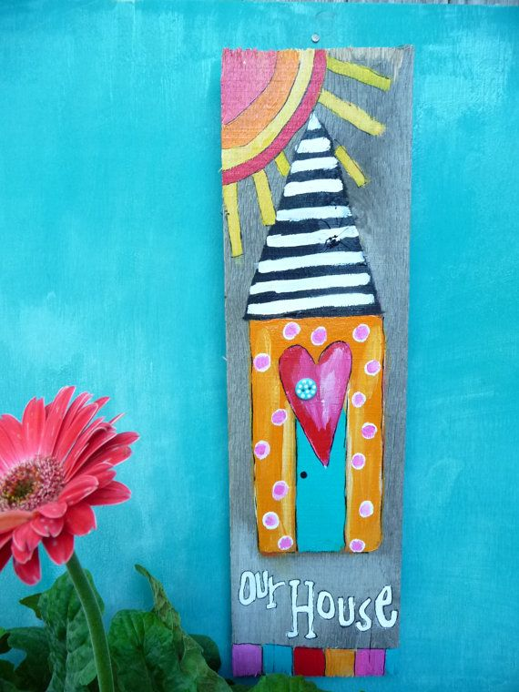 Our House Repurposed Art Sale by evesjulia12 on Etsy, $32.00. Junebug Art
