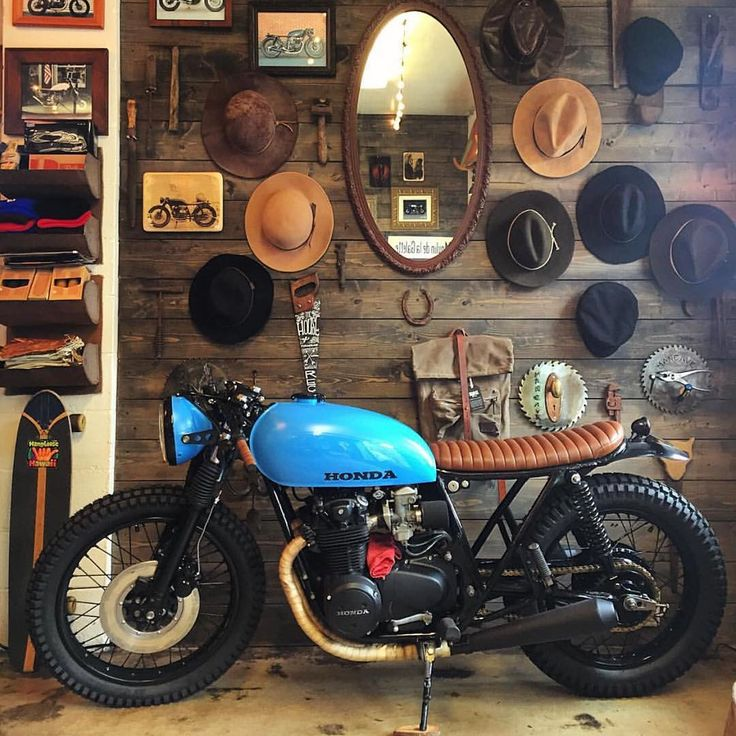 'Old Blue' the Honda CB550 by @imfreakinugly at... - CROIG