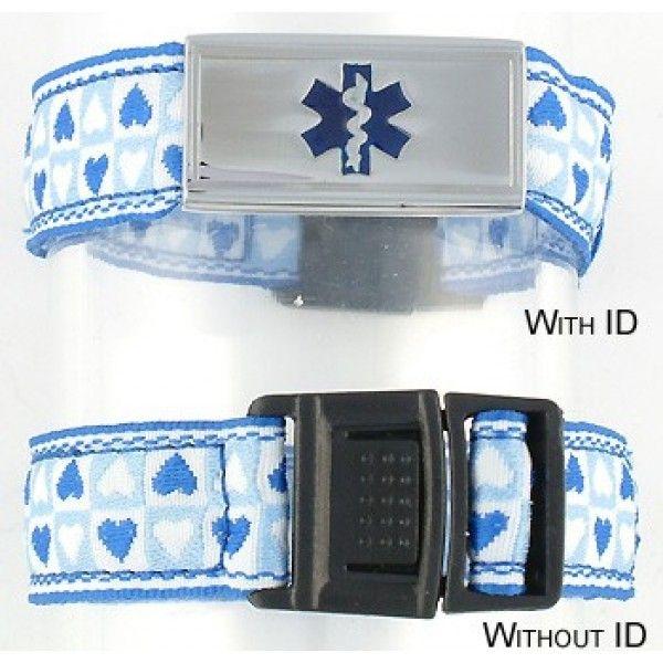 Blue Heart Kids Medical Bracelet