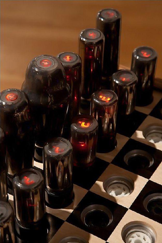 High Tech Chessboard For The Ultimate Gadget Geek #technology