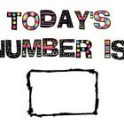 Daily Number signs to use for interactive bulletin board or math journal! Great for developing deeper number sense skills!