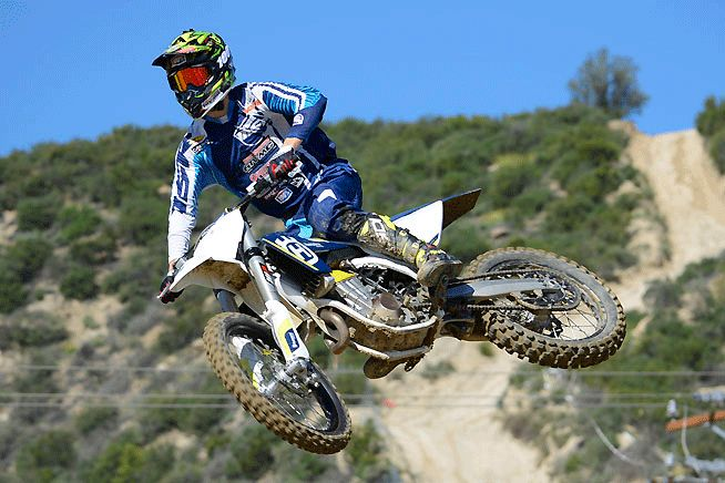 The 2016 Husqvarna FC450 has already proved to be a winner in AMA Supercross, and it upholds the brand's honor on outdoor circuits as well. A strong mid-range bark and light-feeling chassis are two of the FC's biggest assets. PHOTOS BY SCOTT ROUSSEAU.