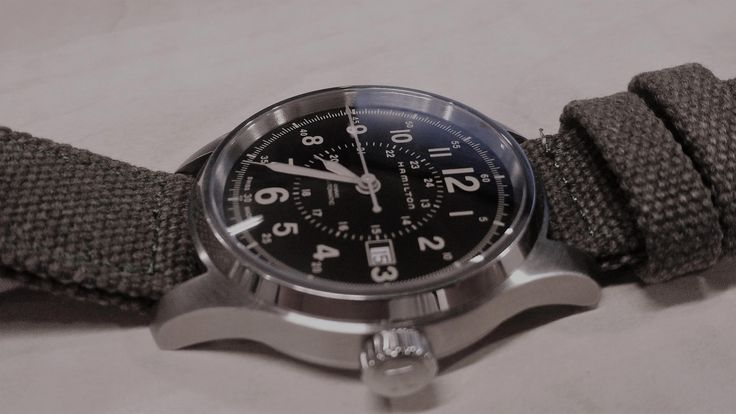When American style meets Swiss horology. The superb elegant, rugged HAMILTON Khaki Field Automatic. #HAMILTONWATCH #HAMMY #H70595593 #KhaValeri http://www.pinterest.com/KhaValeri/    kha_amz_HAMkfield0903_v27