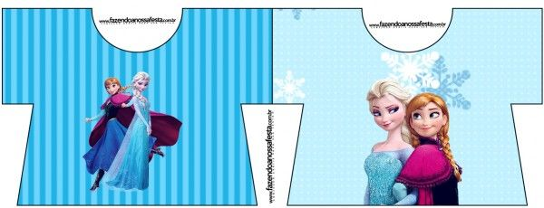 Convite Camisa Frozen Azul