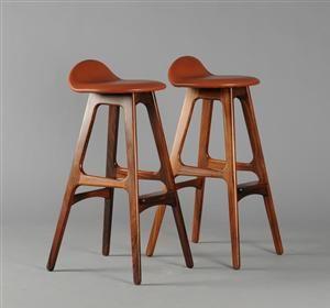 Moderne, klassiske og antikke møbler - Erik Buch. Barstol model OD 61 af palisander (2) - DK, Herlev, Dynamovej