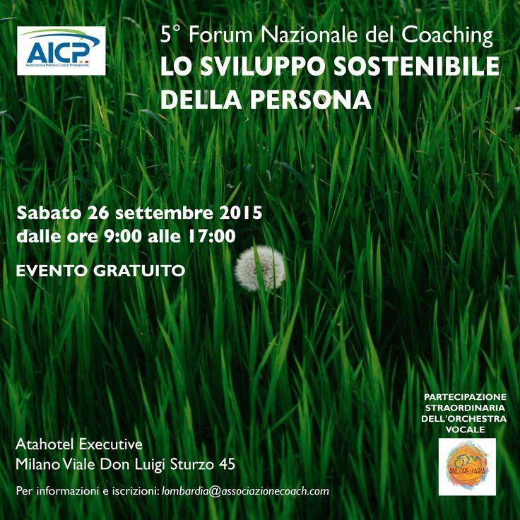 Domani 26 Settembre a Milano il futuro che non c'era... aperto al pubblico! http://www.associazionecoach.com/5-forum-nazionale-del-coaching/