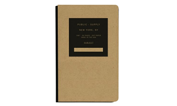 Public Supply Notebooks. Lots of colors and styles. Buy this and 25% of profits go to classroom art programs high-need NYC public schools.: Color