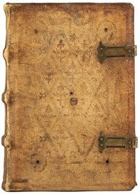 Hand Bookbindings: Clasps, Furniture, and Other Closures 1503 German alum taw. Blind tooled diaper pattern.
