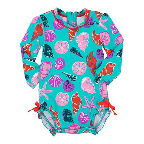 Buy Hatley Baby Seashell Swimsuit, Teal Online at johnlewis.com 12-18 months