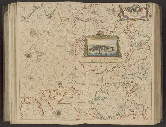 Page 5 Zee-atlas  Colom, Arnold 1656?  Albert and Shirley Small Special Collections Library, University of Virginia. http://search.lib.virginia.edu/catalog/uva-lib:2287415/view#openLayer/uva-lib:2380007/6498.5/8503/2/1/0