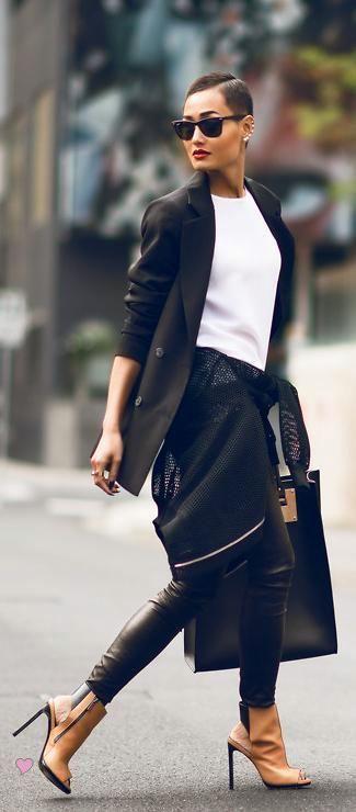 Wittner'Robertoz' boots in black/tan Sophie Hulmelarge leather tote