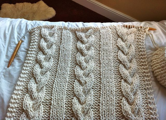 Cable Knit Blanket Pattern By Knitting Revolution Cable