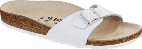 Birkenstock Madrid White Smooth Leather Womens Sandals Shoes NEW Birkenstock. $79.95. Brand with the Tradition of Birkenstock since 1774. Narrow sizing fits slender feet. Name:Madrid. leather. Perfect fit in two widths (Check the Width in the DropDown Narrow or Regular). Regular sizing fits medium to wide feet