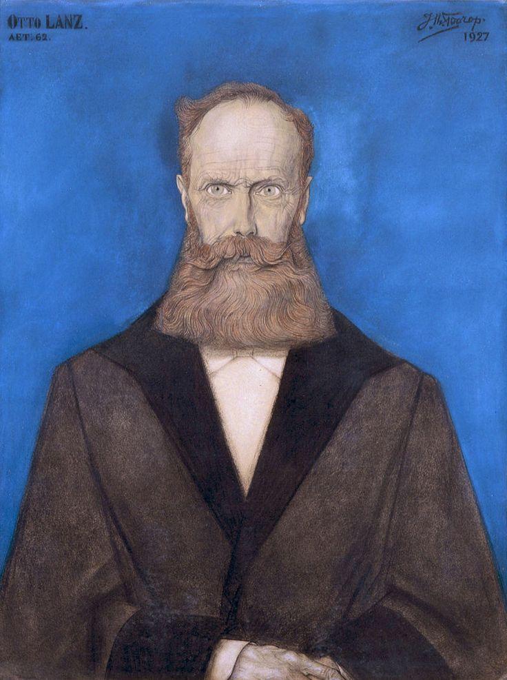 Jan Toorop, Portrait of Otto Lanz (1927)