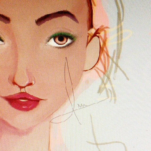 So..I got back to it.. This is a WIP of something I began today #artwork #drawing #digitalpainting