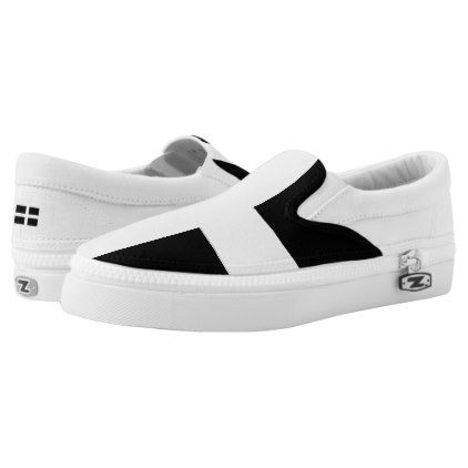 #St. Pirans flag / flag of Cornwall Slip-On Sneakers - #womens #shoes #womensshoes #custom #cool