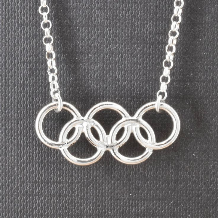 Olympic Necklace, Olympic Jewelry, Sterling Silver Necklace, Olympic Ring, Custom Made, 2016, JubileJewel, Handmade Jewelry by JubileJewel on Etsy