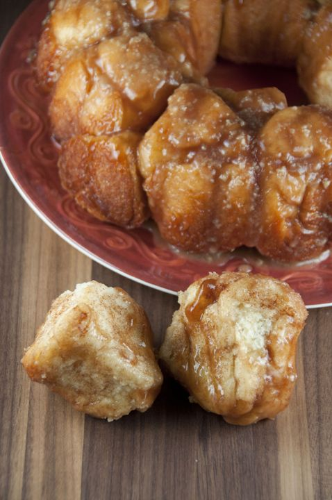 Cinnamon Pull-Apart Bread with Vanilla Maple Glaze   Wishes and Dishes