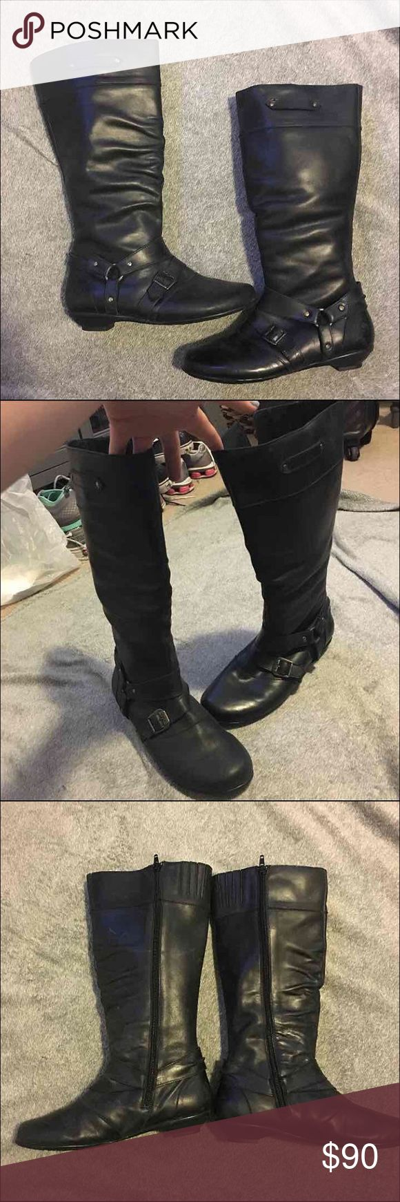 Authentic Born Boots size 6 Authentic Born Boots! Size 6. Go about mid calf. Have only been worn once. Some scuffs just from being stored in a box for a while. Born Shoes