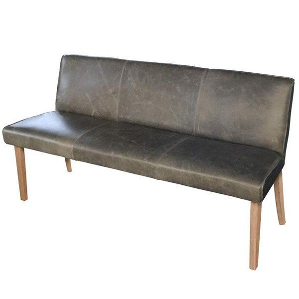 Barton Leather Dining Bench