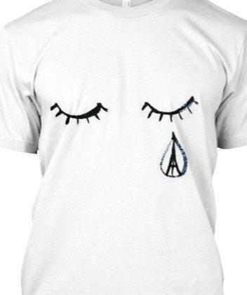 Pray for Paris Shirt Paris Crying T-shirt by BirminghamEngraving