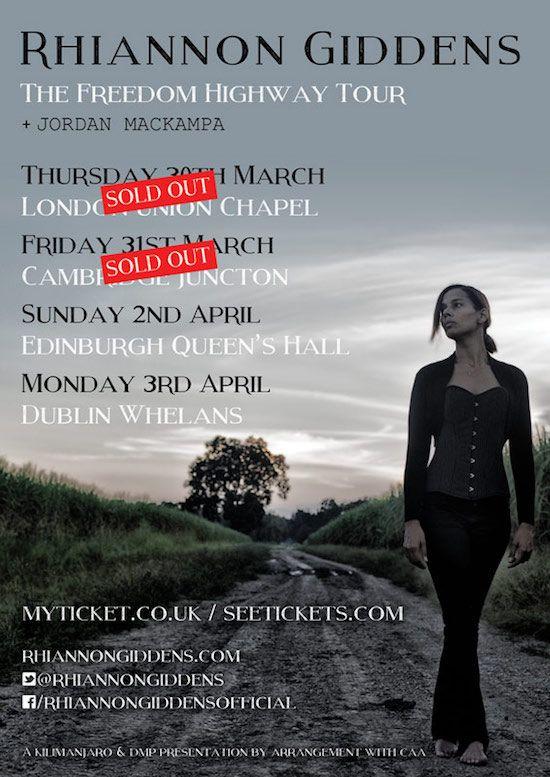 Rhiannon Giddens & Band – Cambridge Junction – Fri 31 March 2017 - Rock Club UK