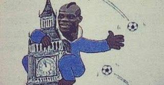 Balotelli version King Kong - http://www.2tout2rien.fr/balotelli-version-king-kong/