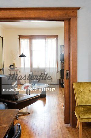 Stock photo of Living Room Through Doorway; Premium Royalty-Free, 600-01837317 © Kathleen Finlay / Masterfile. All rights reserved.