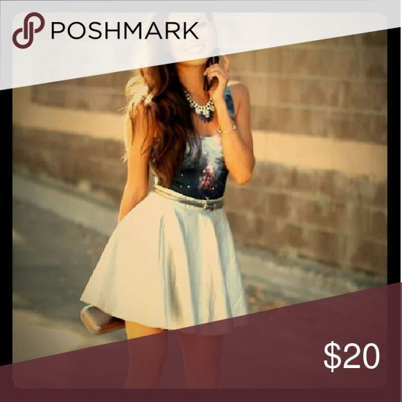 """Ivory skirt I bought this beautiful ivory skilky skirt at """"Mammis Boutique"""" I wish it fit me, I was in a rush when I bought it. Lol it's brand new with tags on it. spicy girl Skirts Midi"""