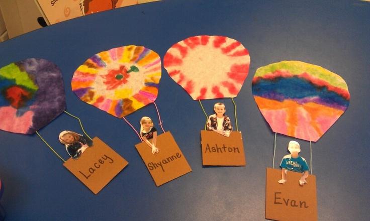 hot air balloon kids  make it a writing activity