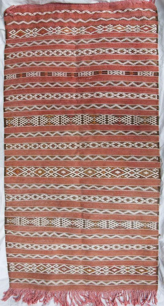 Moroccan Kilim Berber Rug Carpet   Earth Tones   Sturdy   3u0027 ...