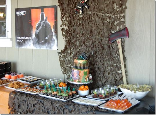 Call of duty black ops ii zombies party ideas pinterest for Black ops 3 decorations