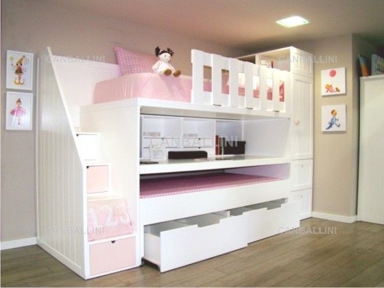 Dormitorios Juveniles Con Dos Camas. Dormitorio Juvenil Con Cama ...